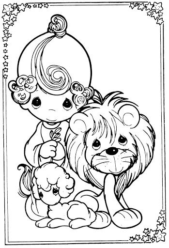 lion lamb and coloring pages on pinterest