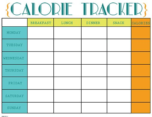 Printables Meal Tracking Worksheet calorie tracker template counting chart pdf amp 6 best counter and free printable on pinterest