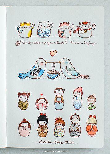Sketchbook (Afsaneh Tajvidi, http://www.joojoo.me/); illustrate a proverb: