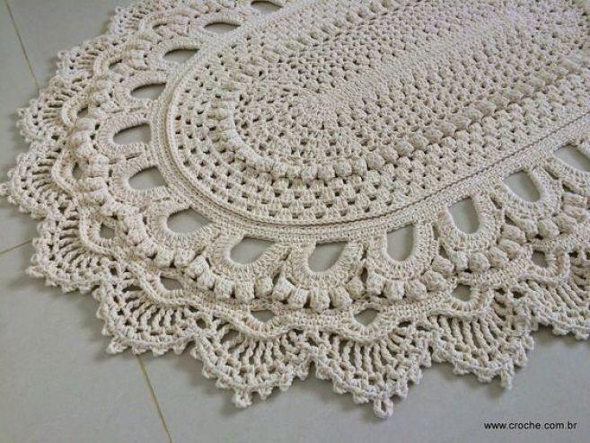 Tapete oval modelo Russo – passo a passo – parte2 | Croche.com.br: