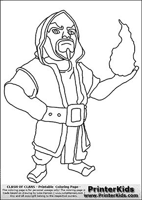 birthday pinterest clash of clans wizards and coloring pages