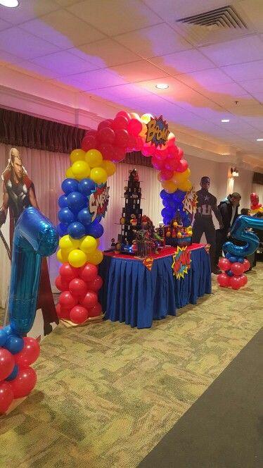 Superhero Balloon Arch Superheroes Birthday Party