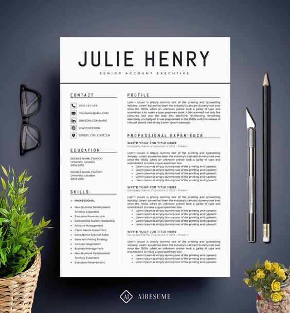 creative resume teacher resume word resume instant download cv