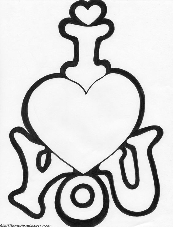 I Love You Coloring Pages Coloring Page Be My Valentine