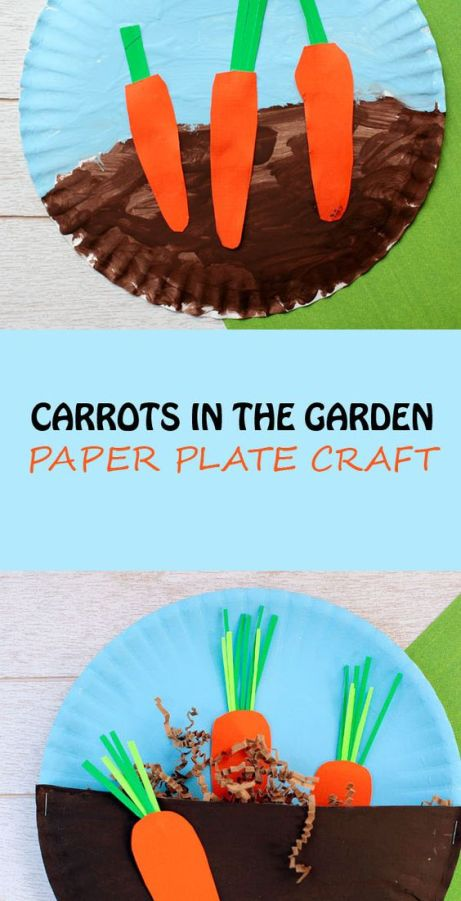 Carrots in the Garden Cute Easter Crafts for Kids to Make