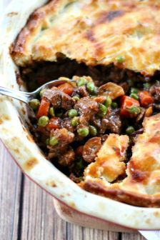 The filling in this Beef Pot Pie is guaranteed to create the best, most deep-flavored pot pie you've ever tasted. The ultimate comfort food meal.: