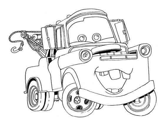 disney cars tow mater and coloring pages on pinterest