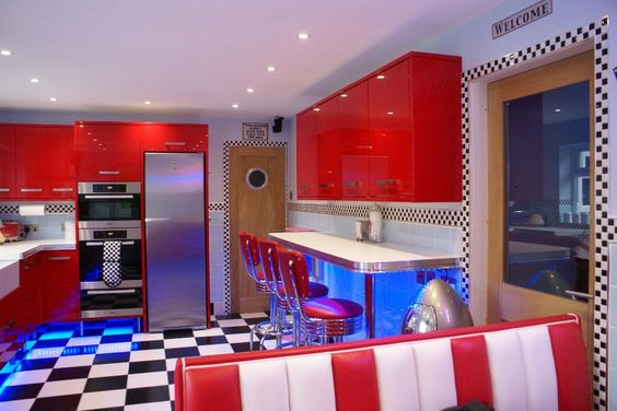Retro Kitchen Lighting and Decor Ideas from the 1950s