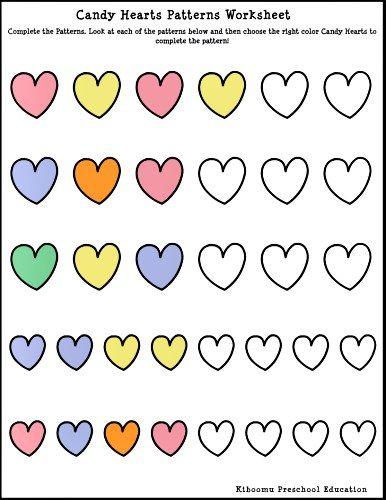 Candy Heart Worksheet