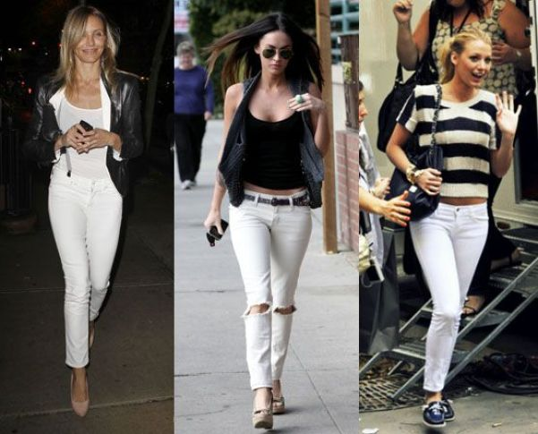 Image result for white jeans