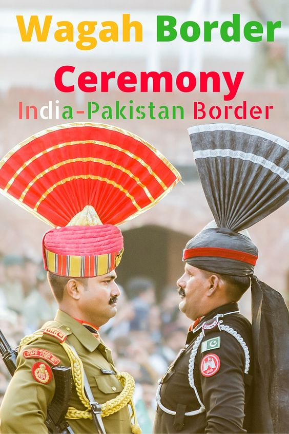 Wagah Border Ceremony India Pakistan Border Soldiers