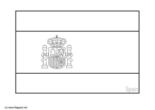 coloring pages spain and flags on pinterest