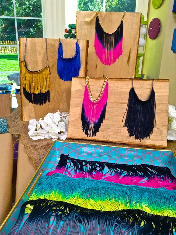 I'm so excited to use all that extra fringe I have lying around and turn them into DIY Fringe Necklaces!!
