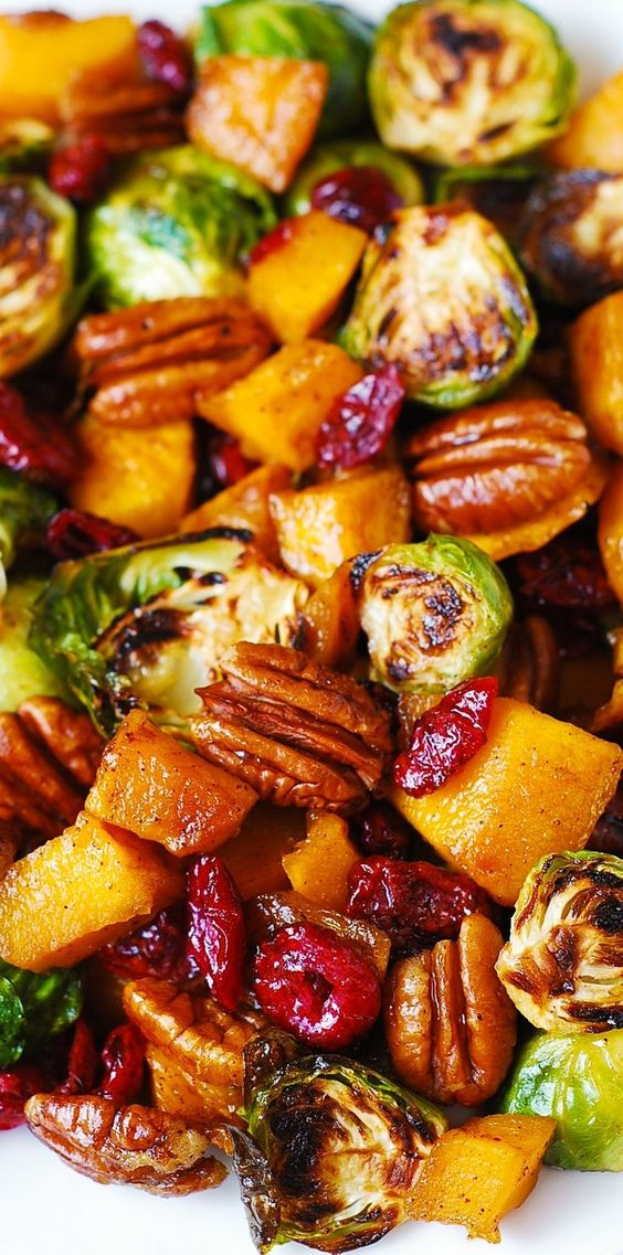 Roasted brussels sprouts, Brussels sprouts and Butternut