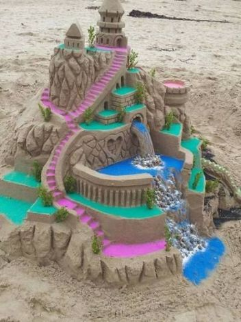 Making a sand castle is things to do around San Diego University!
