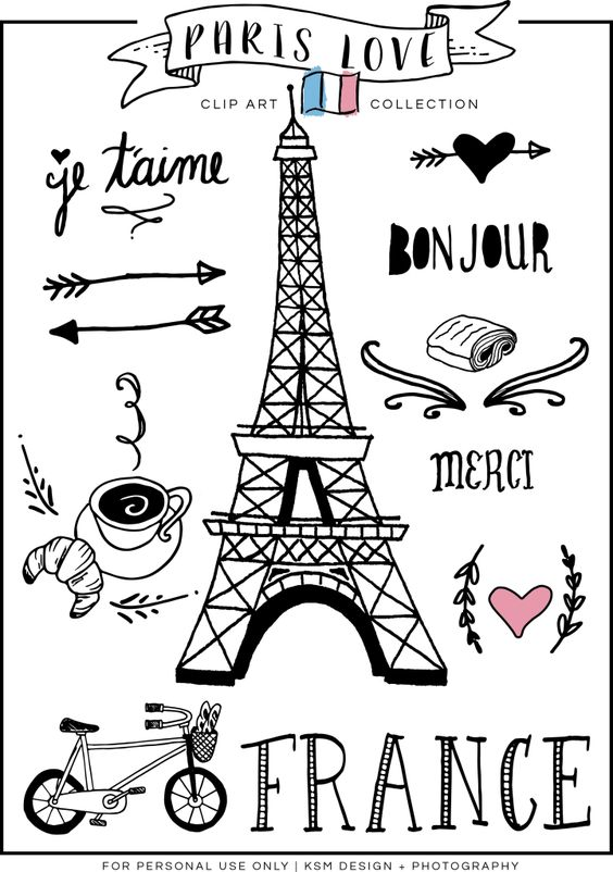 Paris Love Clipart Free Download KSM Design