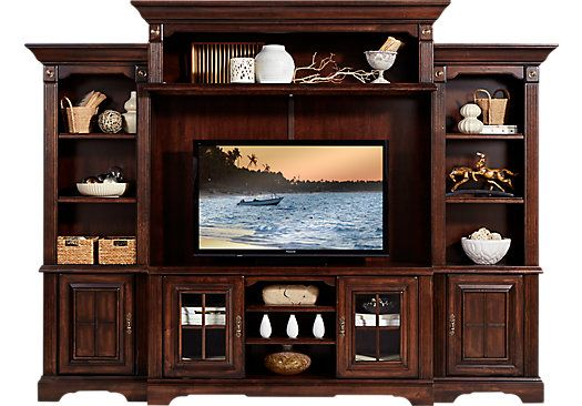 Shop For A Mountain Bluff Dark Cherry 5 Pc Wall Unit At