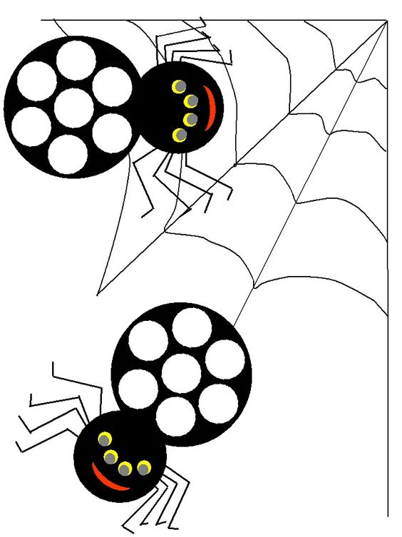 spiders themed bingo dauber coloring pages use bingo daubers