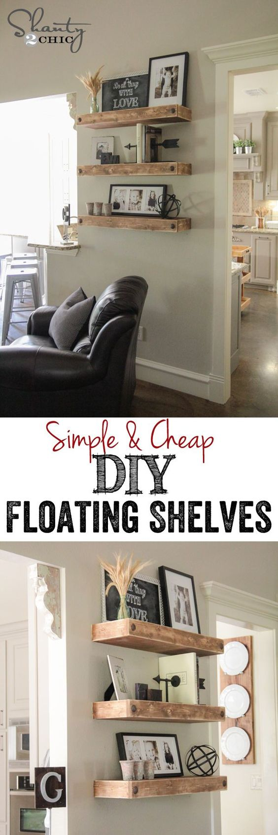 Floating shelves kitchen, Living rooms and Sofa tables on