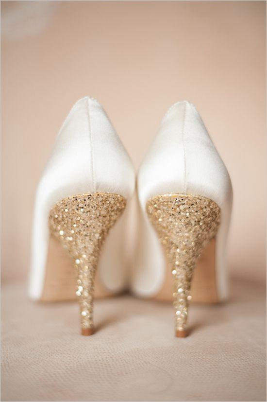 Scarpe matrimonio color oro
