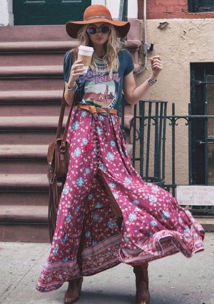 A graphic shirt is the best boho outfits for any trip!