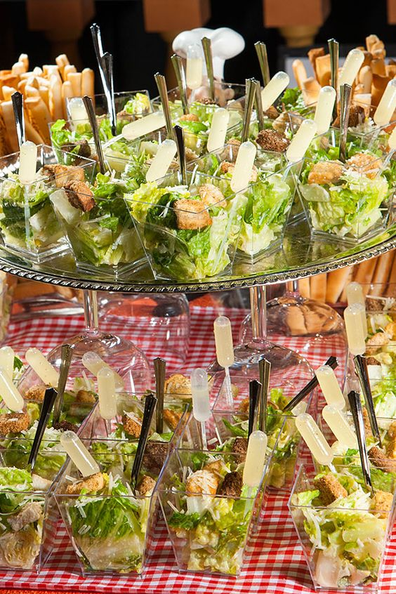 Delicious and Fresh Caesar Salad Shooters by