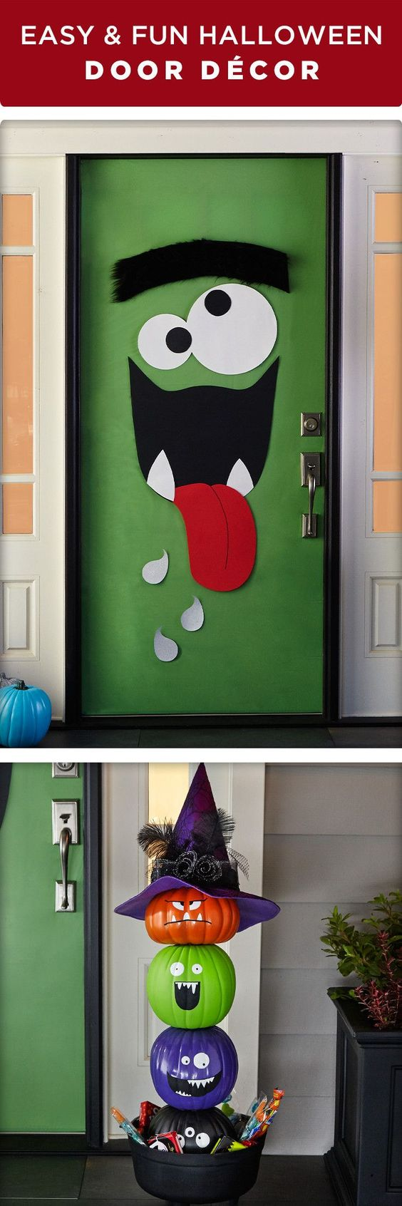 Decorate your front door for trick or treaters this