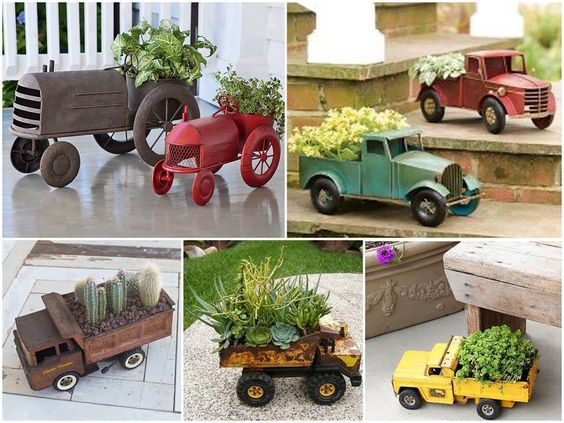 Garden Nerd Mario Cart Toy Trucks DIY Succulent Planters Upcycle Planter