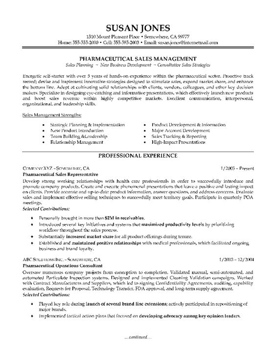 sales resume pharmaceutical sales and resume on pinterest