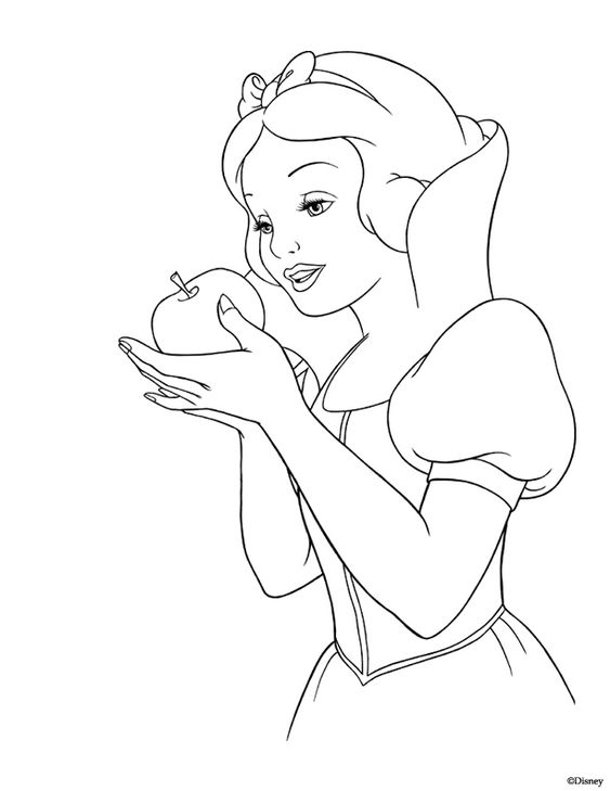 snow white snow and coloring pages on pinterest