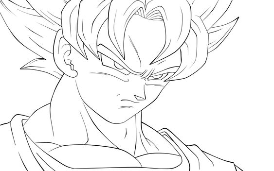 goku coloring pages to print and coloring pages on pinterest