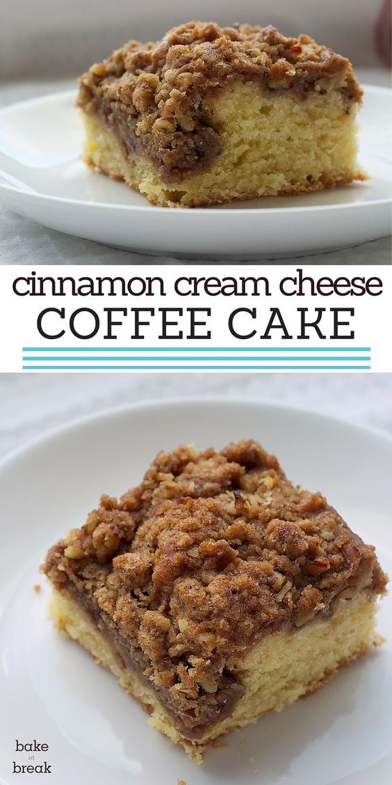 Cinnamon Cream Cheese Coffee Cake Recipe Traditional