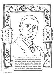garrett morgan coloring and black history month on pinterest