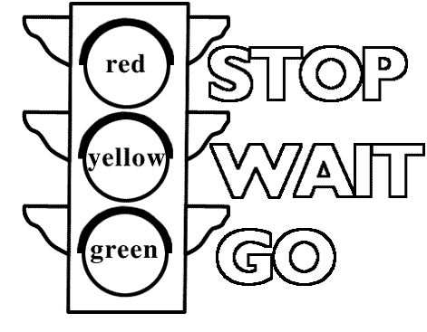 traffic light coloring pages and coloring on pinterest