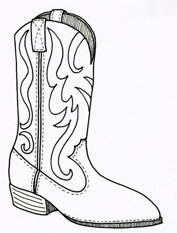 cowboy boots cowboys and coloring pages on pinterest