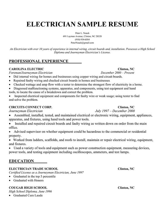electrician resume examples sample resume apprentice electrician