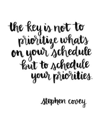 Important words from a man who knew a thing or two about productivity! Focus on your priorities and build them into your schedule!: