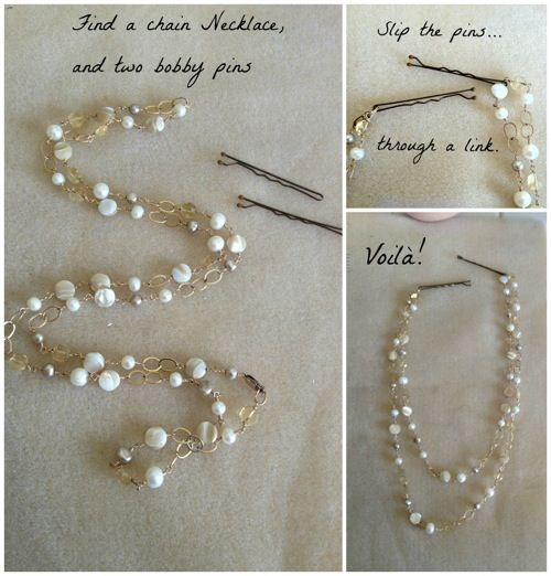 Quick DIY Hair Chain. Easy!! @Courtney Baker Baker Baker Martiny haha Im not the only one who wanted one of these!!: