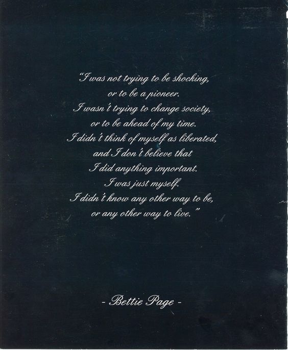 bettie page quote