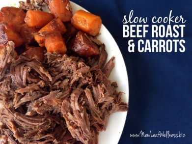 Slow Cooker Beef Roast and Carrots: