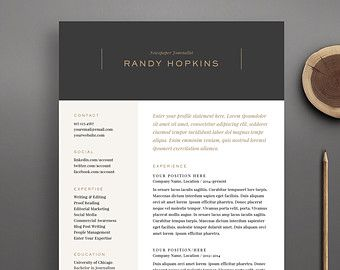 resume templates resume and cover letter template on pinterest