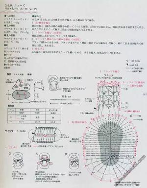 Crochet baby booties diagram   Crochet Baby Mittens