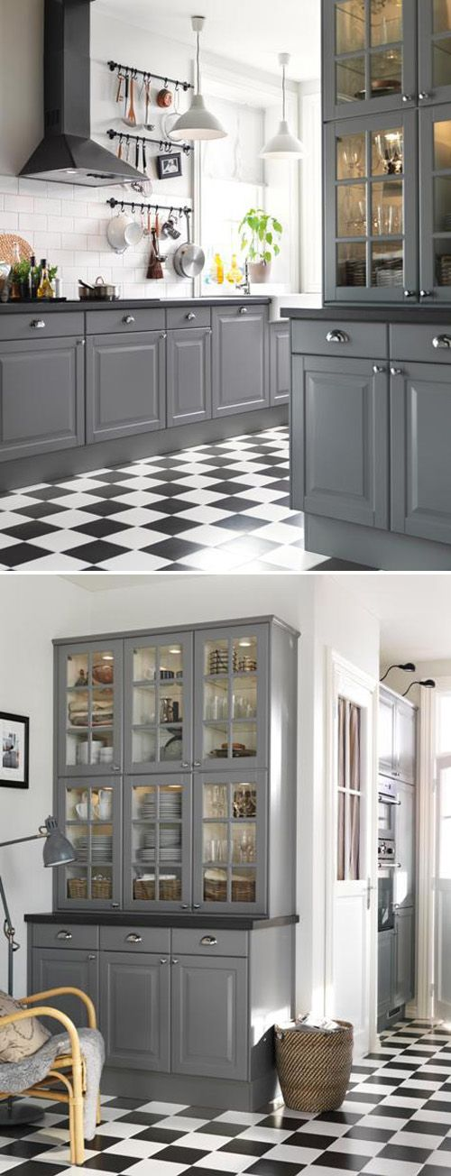 A gray kitchen from the new 2013 IKEA catalog. I just