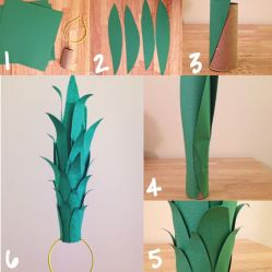 Instagram @aisha DIY pineapple costume tutorial. Pineapple hat tutorial. Super easy!: