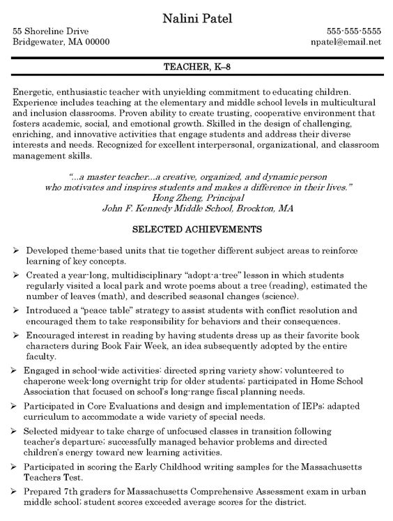 teacher resumes math teacher and resume on pinterest