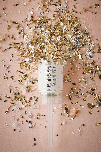 Gold Glitter & Glam Popper | BHLDN: