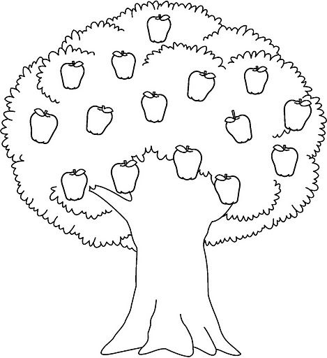 free printable apple tree coloring pages 3 coloring pages for