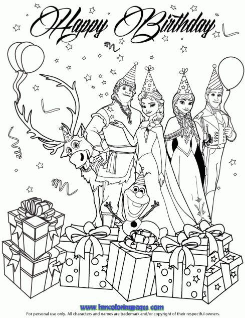 1000 images about disney frozen birthday coloring pages on