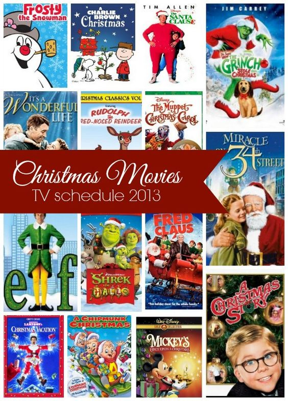 Christmas movies on tv, Movie schedule and Christmas