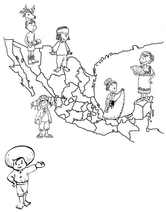 mexico 39 s map of traditional dress free coloring pages coloring